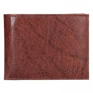 Pánská kožená peněženka Lagen Rick - hnědá