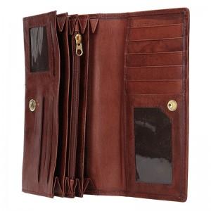 Dámská kožená peněženka Lagen Inge - hnědá
