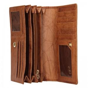 Dámská kožená peněženka Lagen Inge - koňak