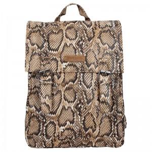 Moderní dámský batoh Enrico Benetti Snake - hnědá