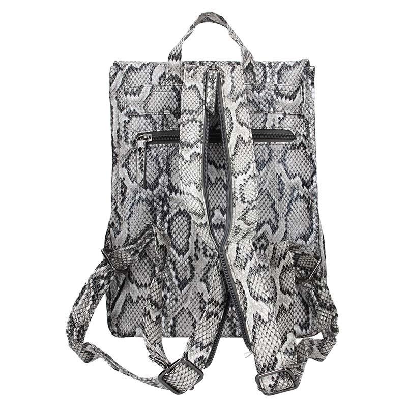 Moderní dámský batoh Enrico Benetti Snake - šedá