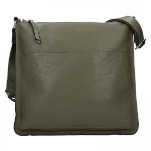 Dámská kožená kabelka Facebag Lima - olivová