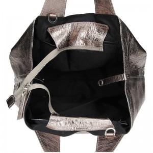 Dámská kožená kabelka Facebag Sofi - zlatá