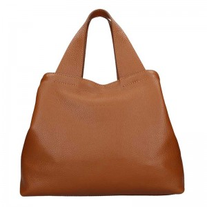 Dámská kožená kabelka Facebag Sofi - Hnědá