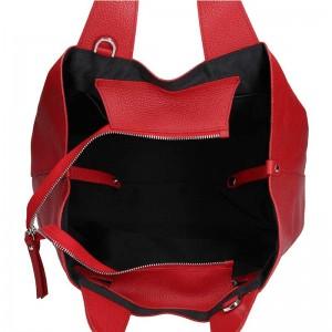 Dámská kožená kabelka Facebag Sofi - červená