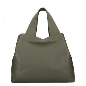 Dámská kožená kabelka Facebag Sofi - olivová