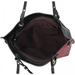 Dámská oboustranná kabelka Pierre Cardin Apolen - červeno-zelená