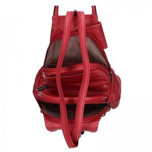Dámský kožený batoh Hexagona Amande - vínová