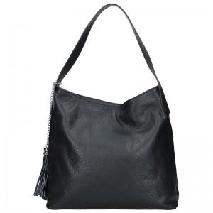 Dámská kožená kabelka Vera Pelle Linda - černá