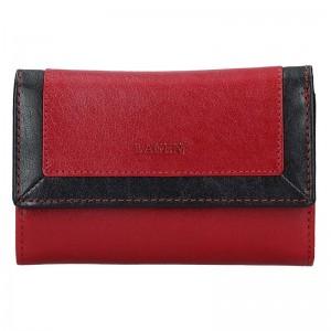 Dámská kožená peněženka Lagen Ela - červeno-černá