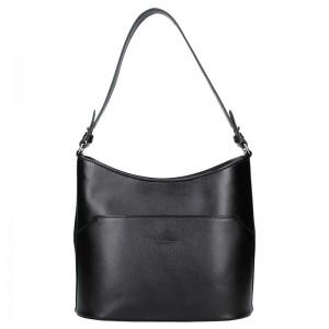 Dámská kožená kabelka Vera Pelle Jenny - černá