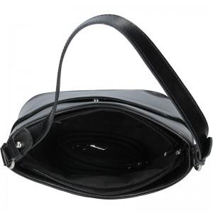 Dámská kožená kabelka Vera Pelle Jenny - tmavě hnědá