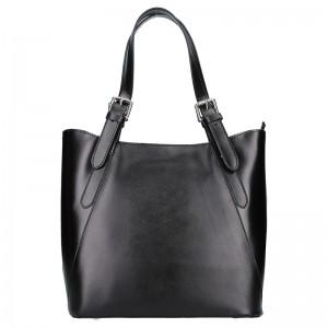 Dámská kožená kabelka Vera Pelle Sindy - černá
