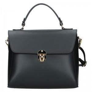 Dámská kožená kabelka Vera Pelle Luccy - černá