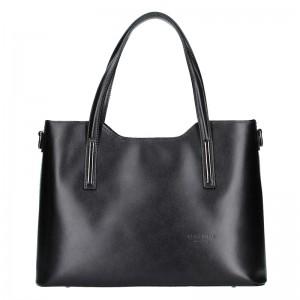 Dámská kožená kabelka Vera Pelle Hana - černá