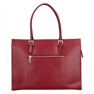 Dámská kožená kabelka Vera Pelle Norra - červená