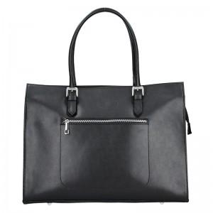 Dámská kožená kabelka Vera Pelle Norra - černá