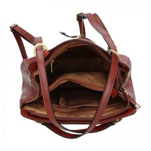 Dámská kožená batůžko kabelka Katana Emily - hnědá