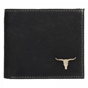 Pánská kožená peněženka Wild Buffalo Martin - černá