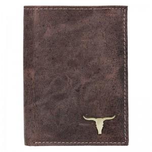 Pánská kožená peněženka Wild Buffalo Tom - hnědá