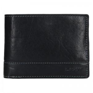Pánská kožená peněženka Lagen Lorenc - černá