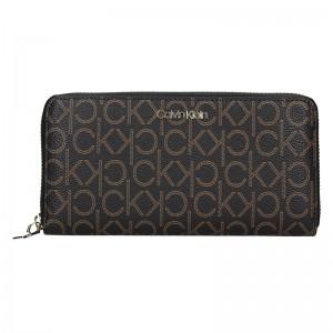 Dámská peněženka Calvin Klein Kaira - hnědá