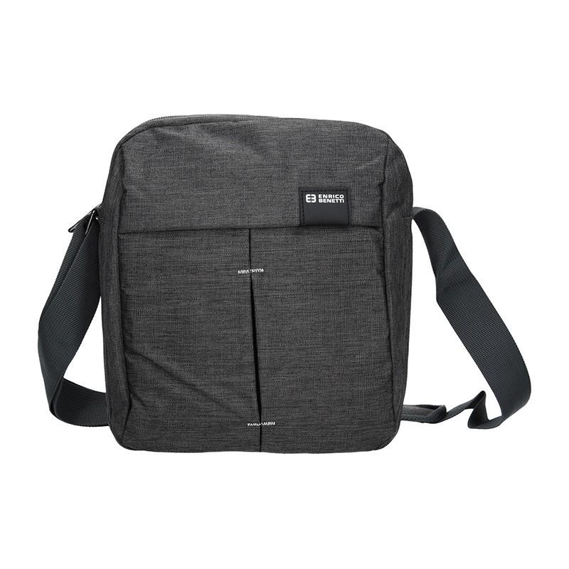 Pánská taška přes rameno Enrico Benetti Filip - šedo-černá