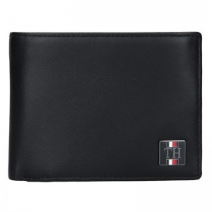 Pánská kožená peněženka Tommy Hilfiger Elias - černá