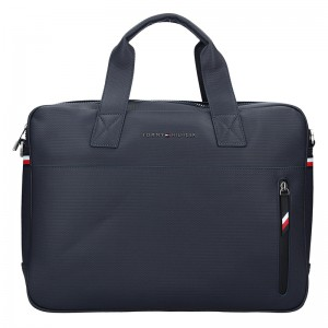 Pánská taška na notebook Tommy Hilfiger Edmond - modrá