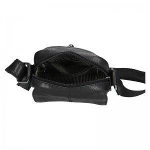Pánská kožená taška přes rameno SendiDesign Petrson - černá