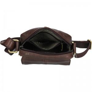 Pánská kožená taška přes rameno SendiDesign Petrson - tmavě hnědá