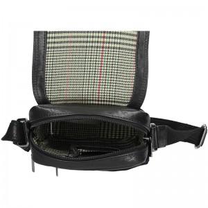 Panská kožená taška přes rameno SendiDesign Rodman - černá
