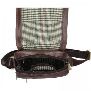 Panská kožená taška přes rameno SendiDesign Rodman - tmavě hnědá