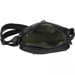 Panská kožená taška přes rameno SendiDesign Jokl - černá