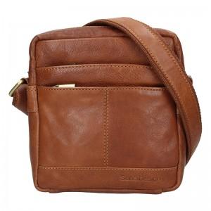 Panská kožená taška přes rameno SendiDesign Jokl - koňak