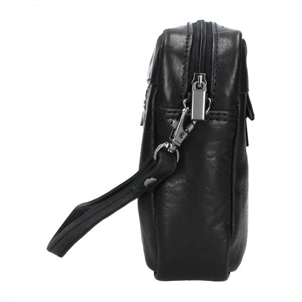 Pánská kožená etue SendiDesign Vence - černá