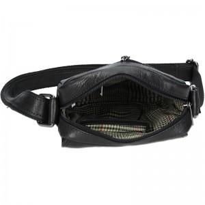 Pánská kožená taška přes rameno SendiDesign Karlos - černá