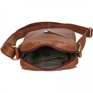 Pánská kožená taška přes rameno SendiDesign Karlos - koňak