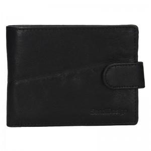 Pánská kožená peněženka SendiDesign Robert - černá