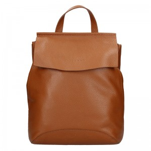 Dámský kožený batoh Facebag Stella - hnědá