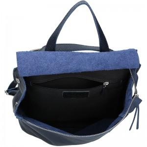 Dámský kožený batoh Facebag Stella - tmavě modrá