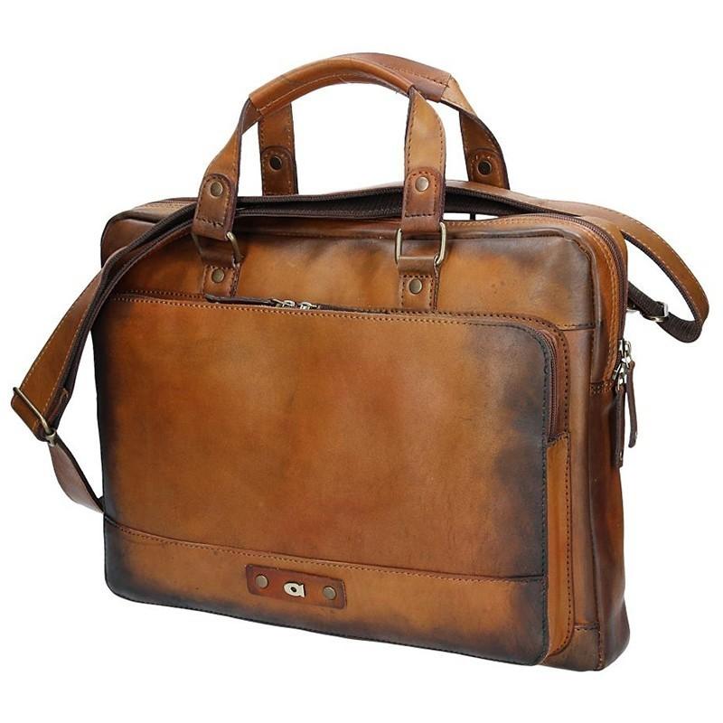 Luxusní pánská kožená taška Daag ALIVE 23 - hnědá