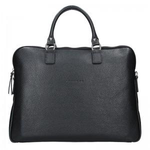 Unisex kožená taška na notebook Facebag Milano - černá