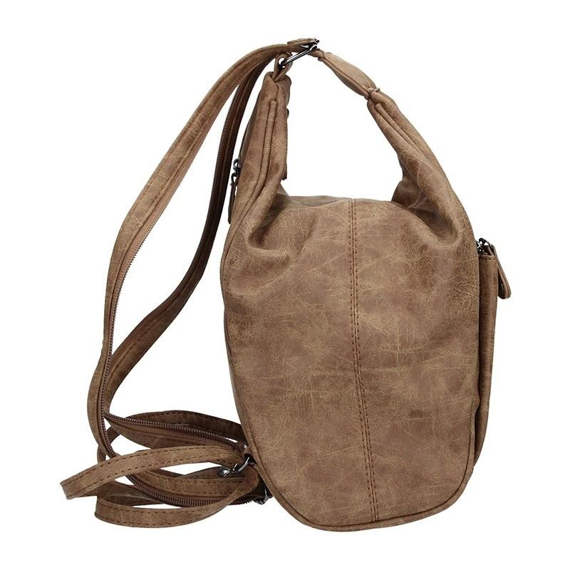 Moderní dámský batoh Enrico Benetti 66250 - hnědá