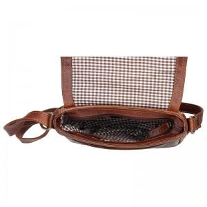 Unisex kožená taška Lagen Benny - hnědá
