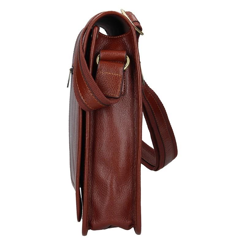 Pánská celokožená taška přes rameno Hexagona Remmy - hnědá