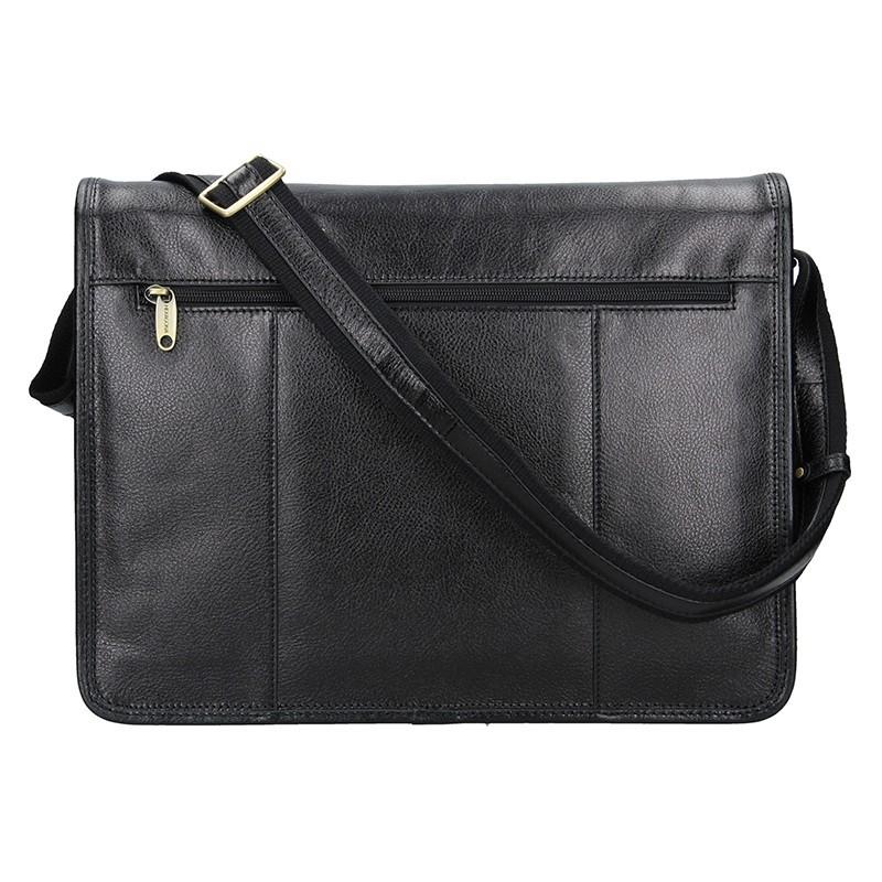 Pánská celokožená taška přes rameno Hexagona Remmy - černá