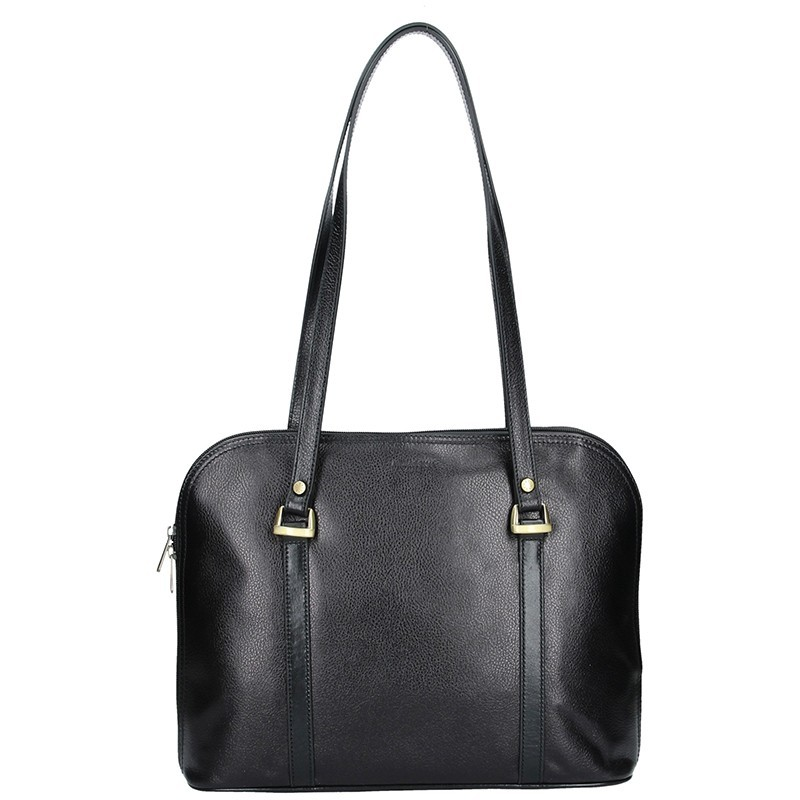 Dámská kožená kabelka Hexagona Vonela - černá