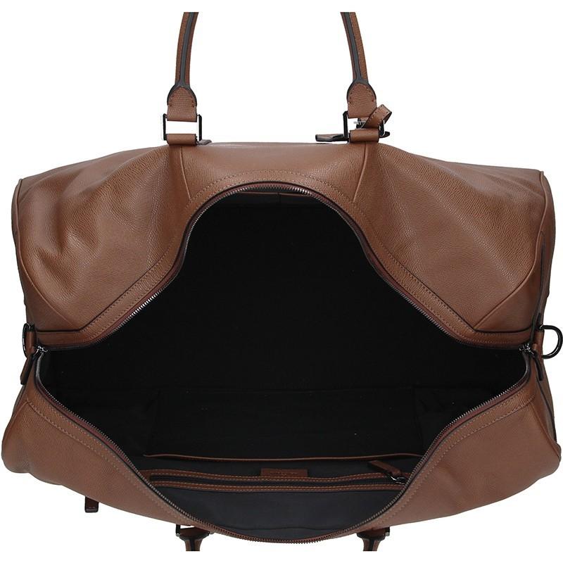 Pánská celokožená cestovní taška Hexagona Sport - světle hnědá