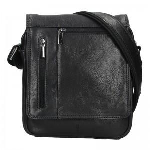 Pánská kožená taška přes rameno SendiDesign Morven - černá